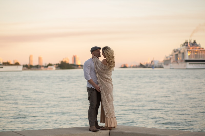 Fort Lauderdale Wedding Photographer, couple kissing on the beach