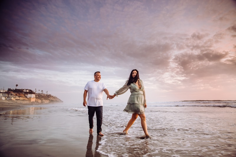 Fort Lauderdale Family Photographer, couple walking on the beach